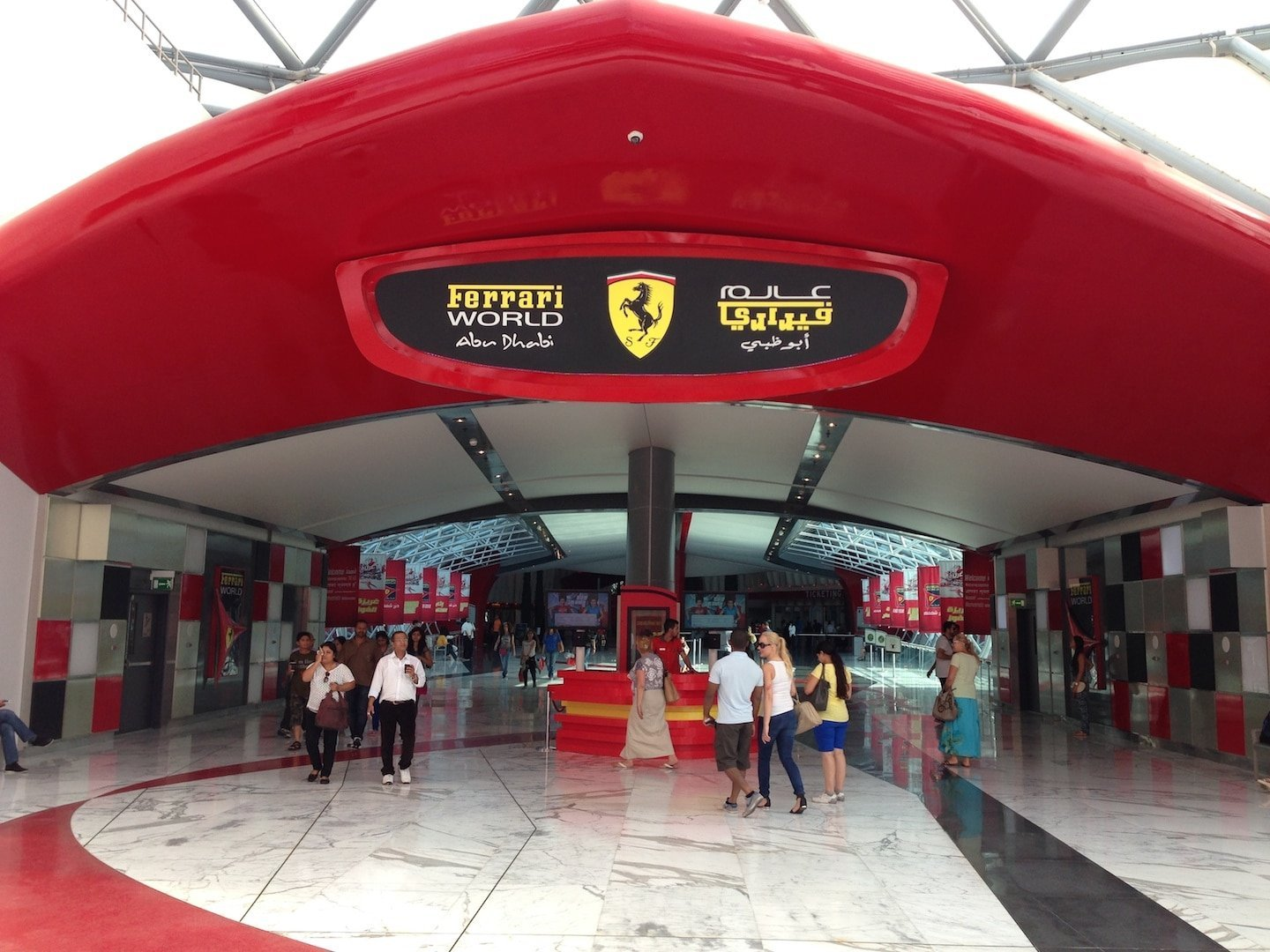 Mamma Rossella and Ferrari World Abu Dhabi