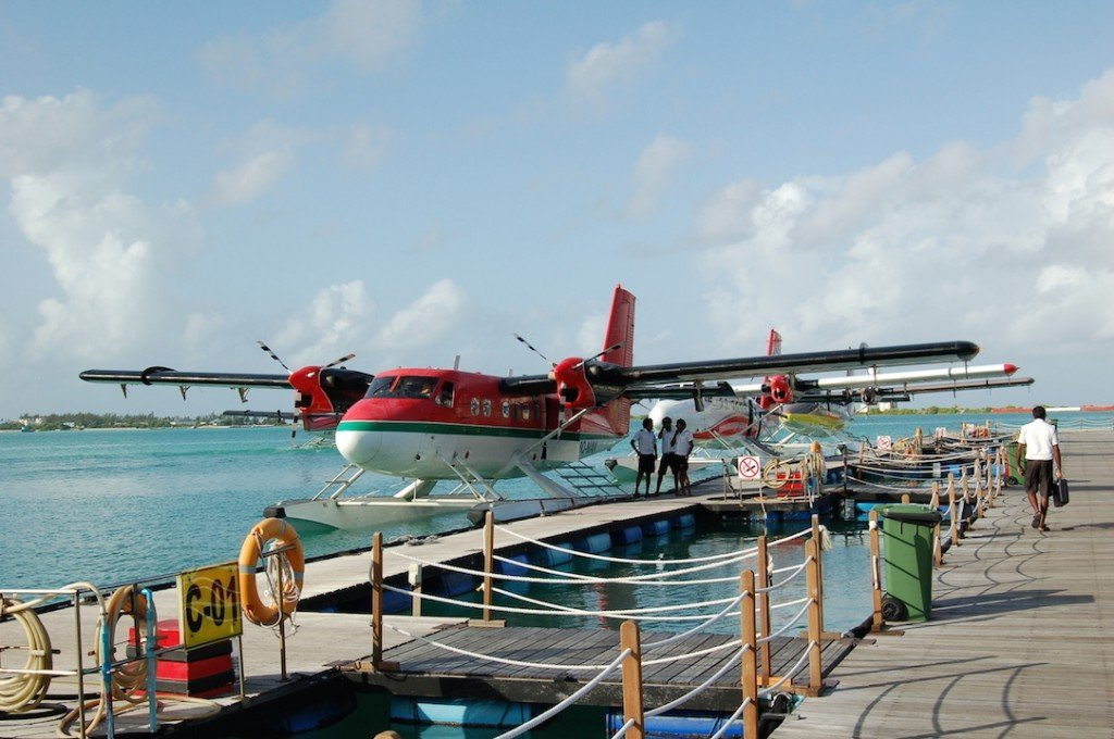 About to get on the seaplane!